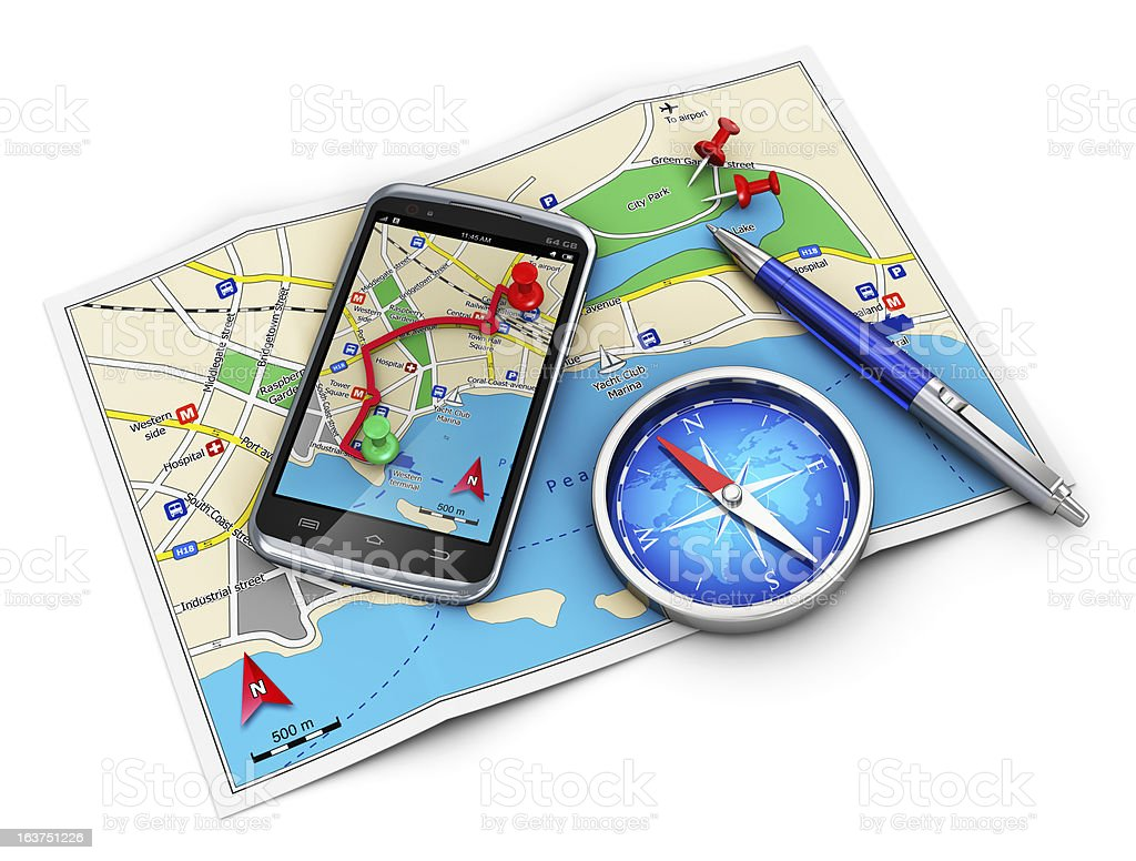 GPS navigation, travel and tourism concept royalty-free stock photo