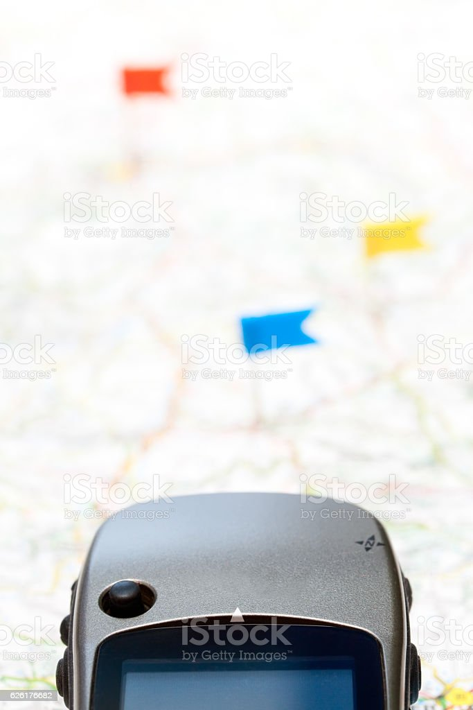 Navigation with GPS concept stock photo
