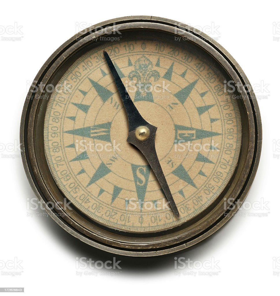 Navigational compass stock photo