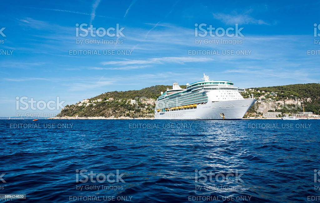 Navigator of the Seas cruise liner in France stock photo