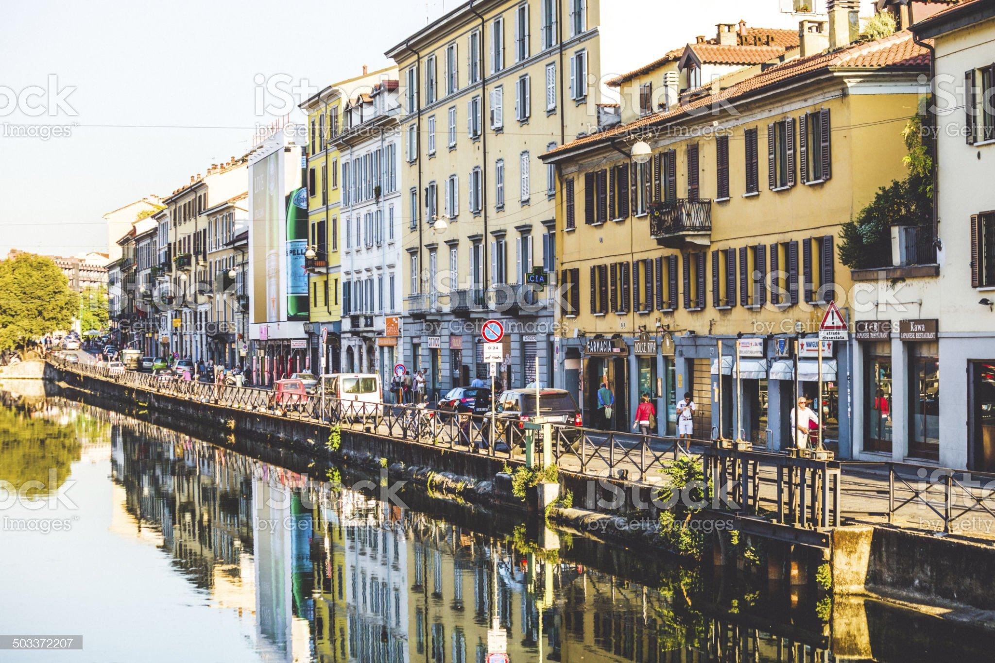 Naviglio Grande royalty-free stock photo