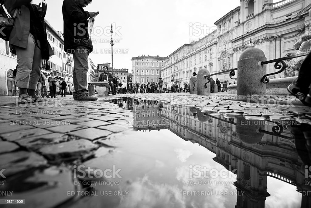Piazza navona in Rome, Citylife royalty-free stock photo