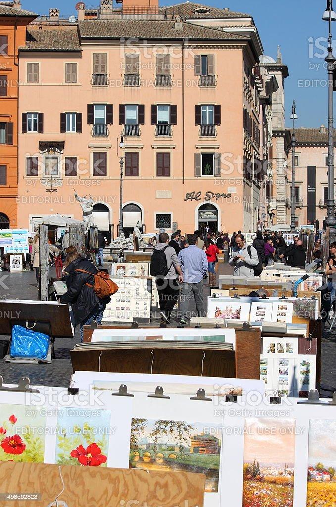 Navona Square in Rome royalty-free stock photo