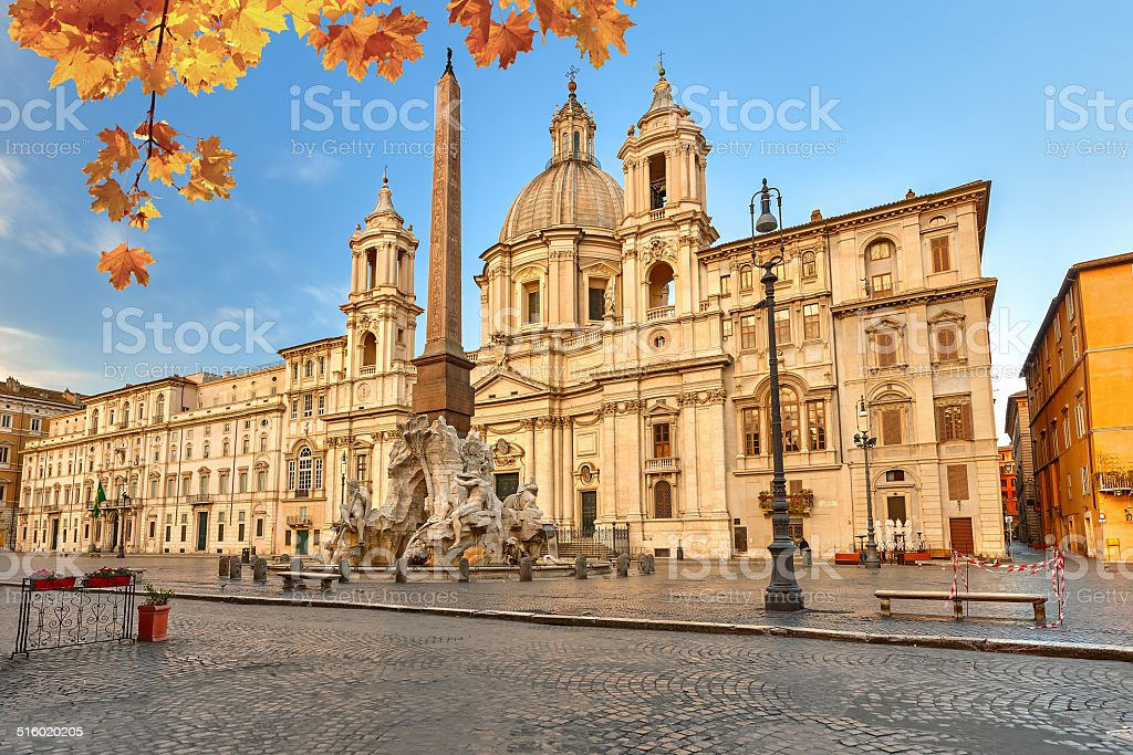 Piazza Navona in Rome stock photo
