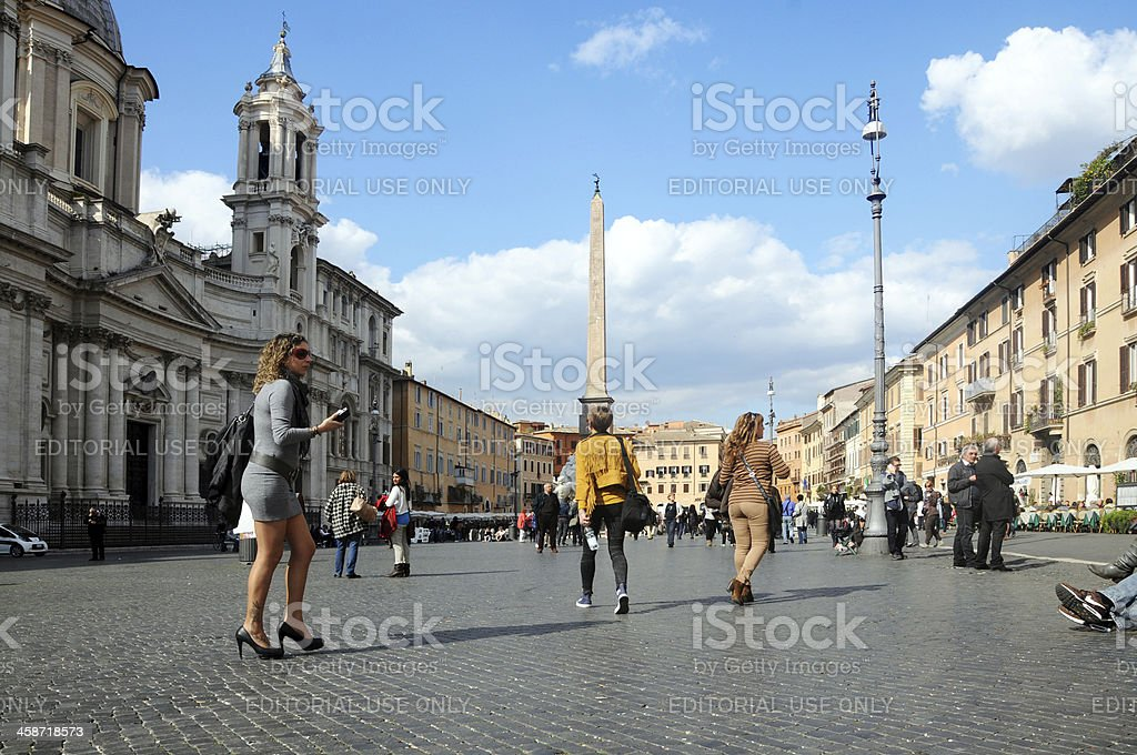 Piazza Navona stock photo