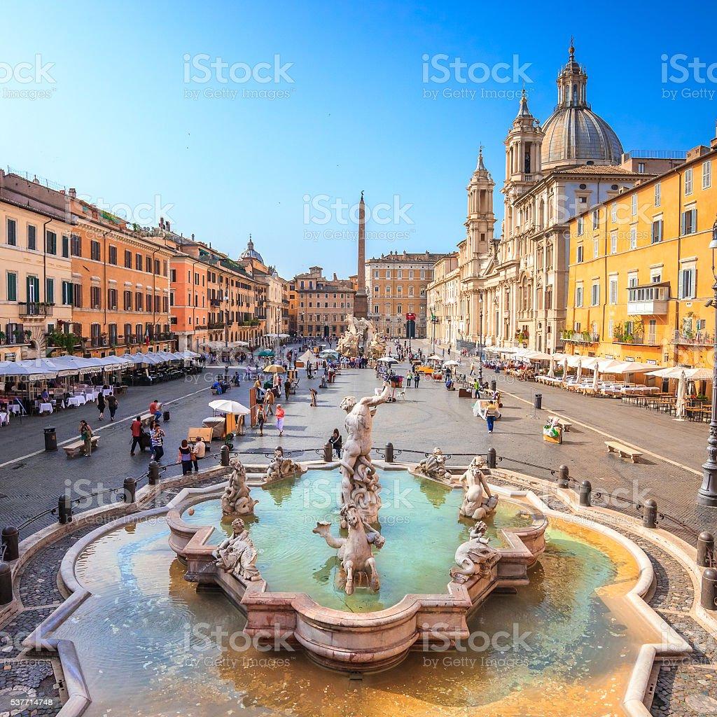 Navona square, Rome, Italy stock photo