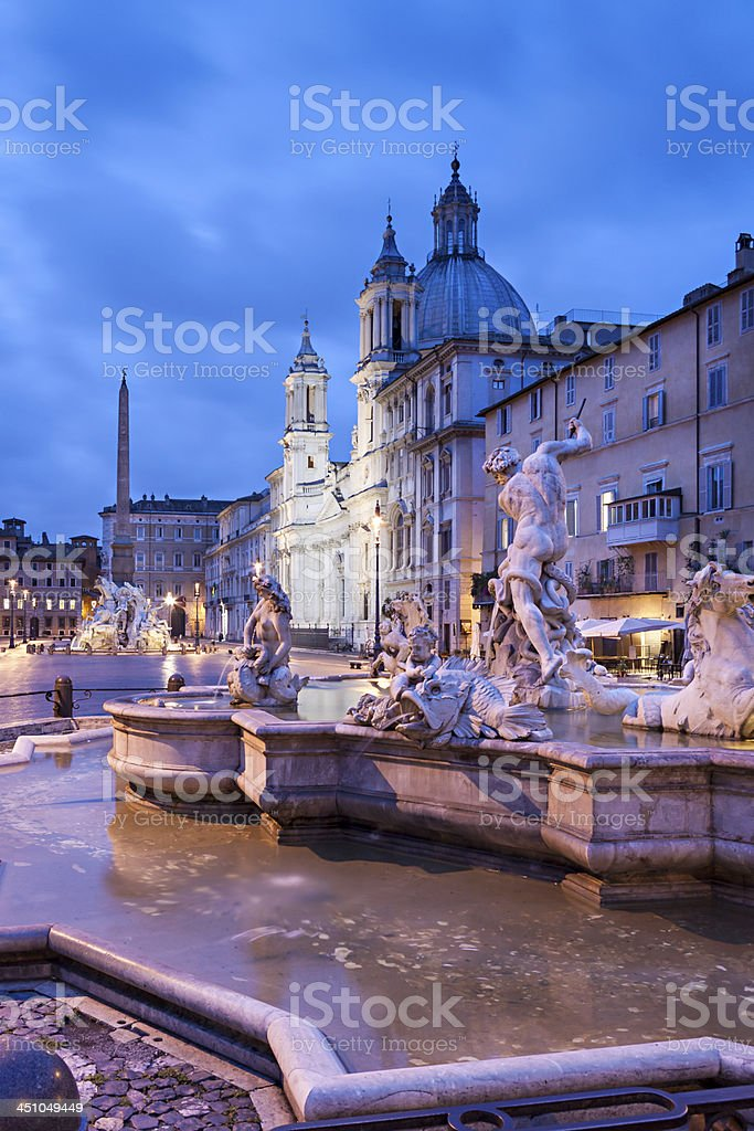 Piazza Navona, Rome royalty-free stock photo