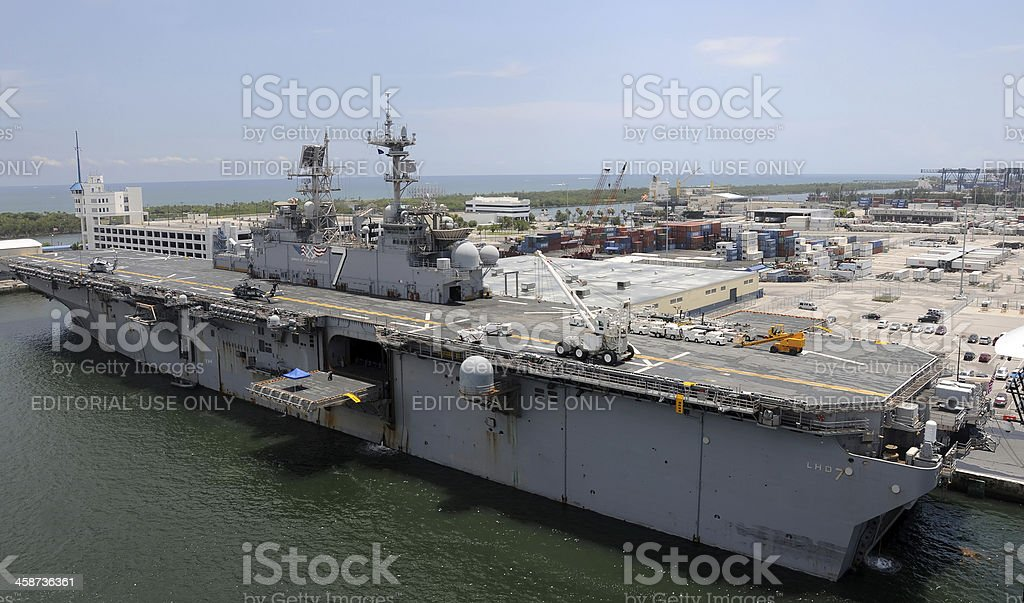 US Navy aircraft carrier royalty-free stock photo