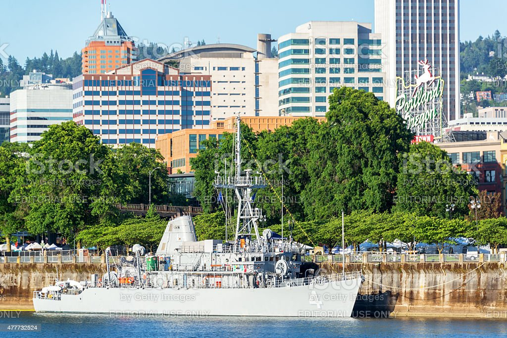 Navy and Portland, Oregon stock photo