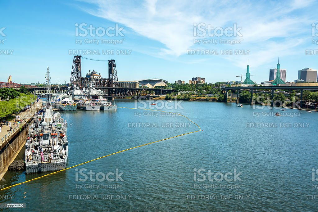 Navy and Portland View stock photo
