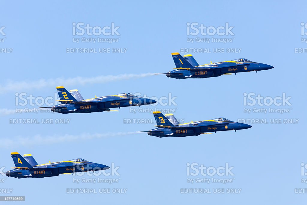 U.S. Navy  Blue Angels Precision Flying stock photo