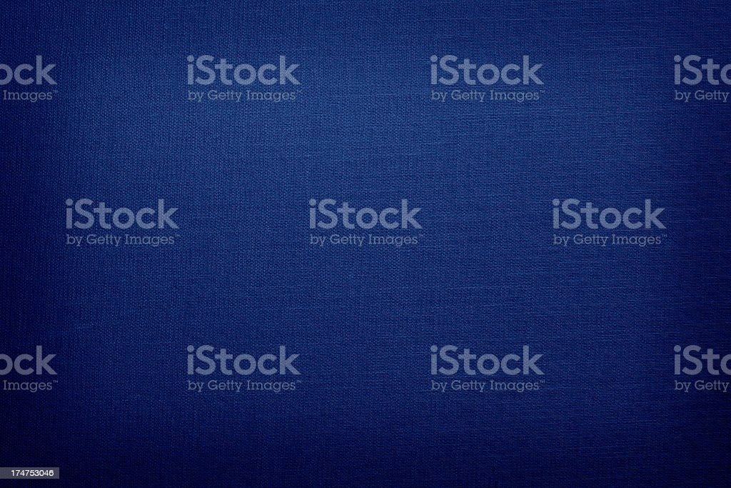 Navy blue colored linen with vignette stock photo