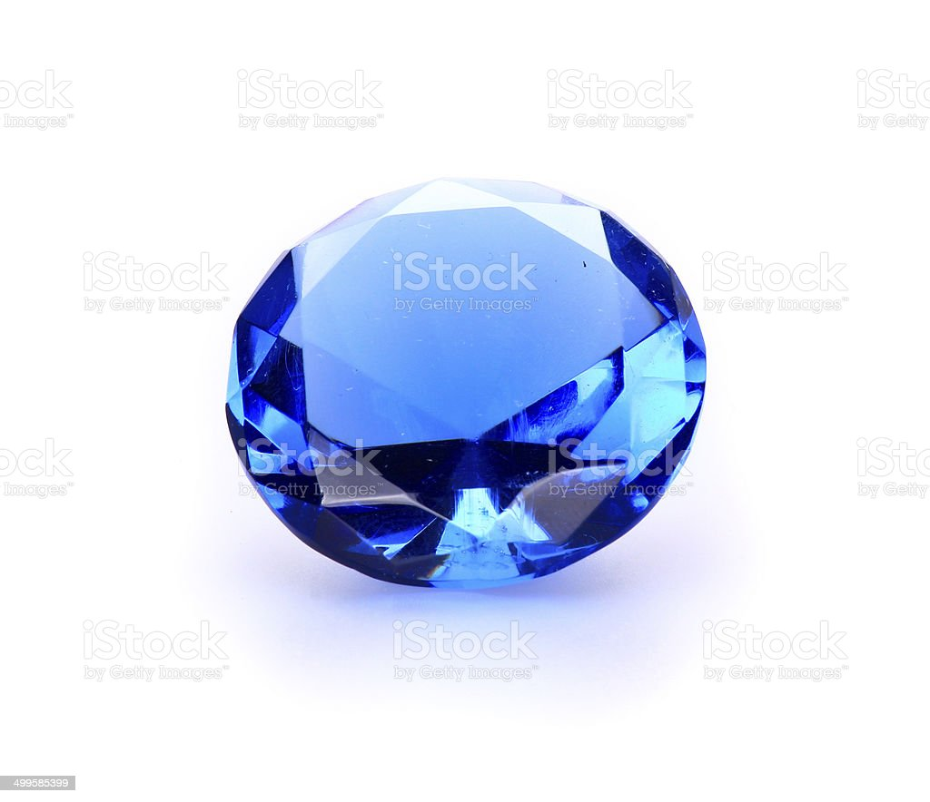 Navy blue Gem stone stock photo