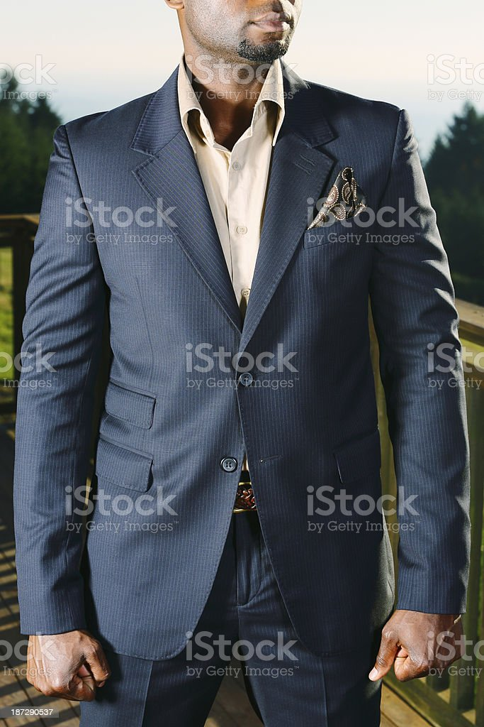 Navy Blue Suit stock photo