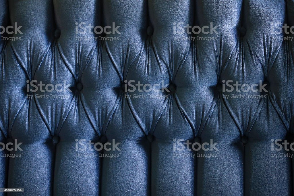 Navy blue upholstery stock photo