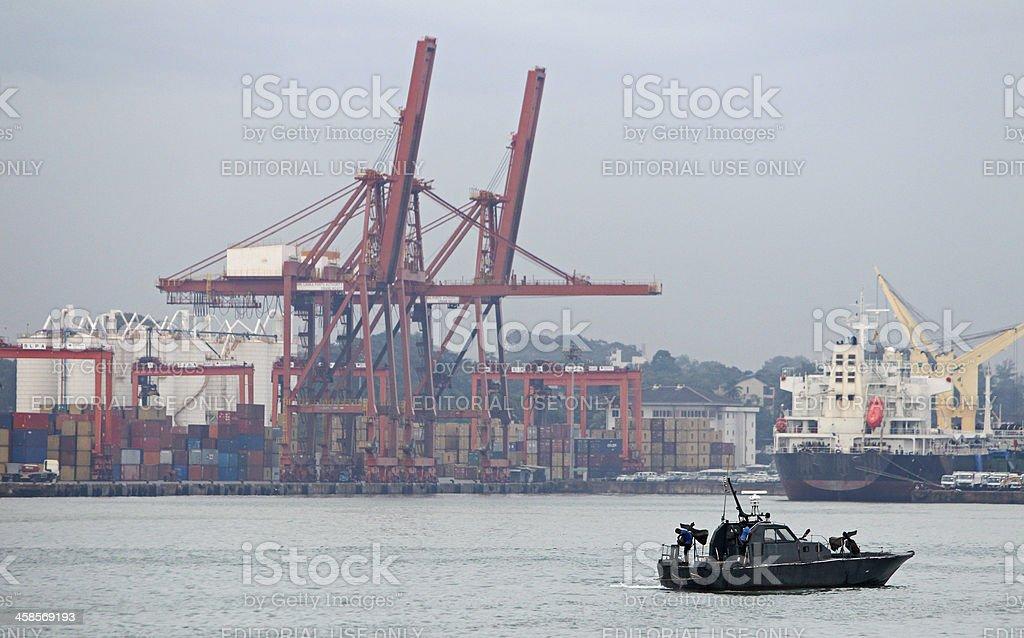 Navy boat royalty-free stock photo