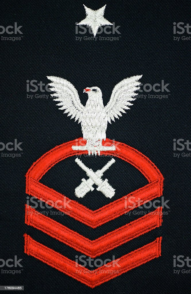 Navy Chief Petty Officer Insignia stock photo