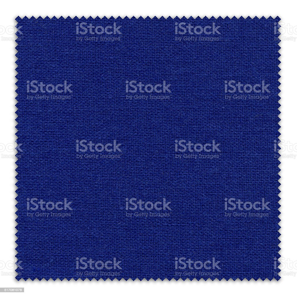 Navy - Dark Blue Fabric Swatch (Clipping Path) stock photo