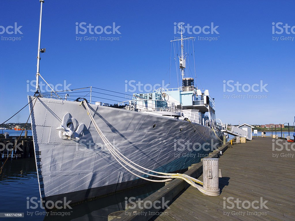 Navy Destroyer royalty-free stock photo