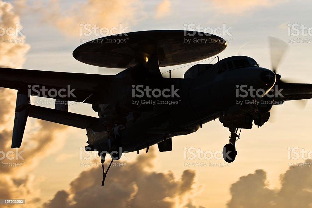 Navy E-2 Hawkeye royalty-free stock photo