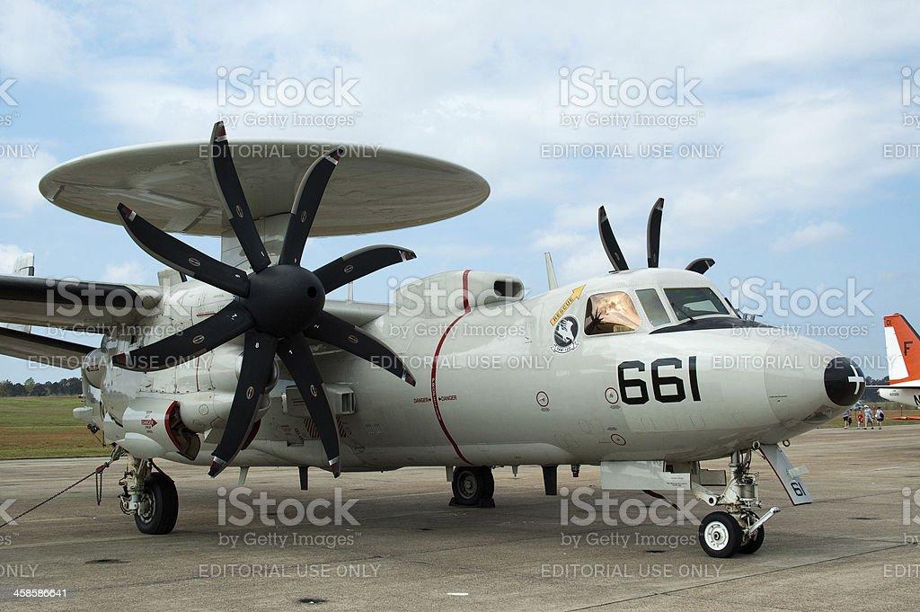 Navy E-2C 'Hawkeye' royalty-free stock photo