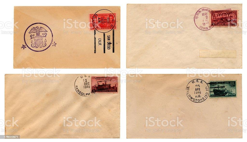 US Navy envelope series royalty-free stock photo