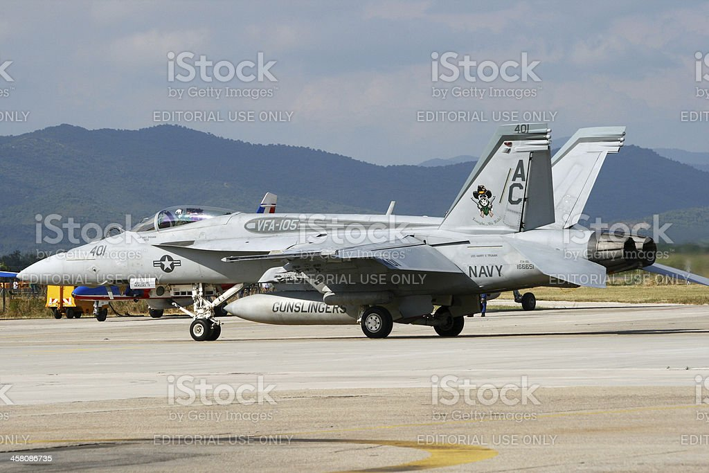 US Navy F-18 Super Hornet royalty-free stock photo