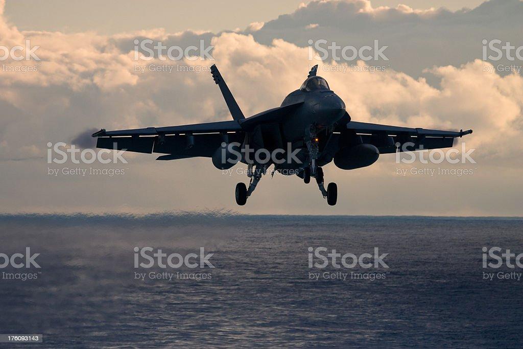 Navy Fighter Jet royalty-free stock photo