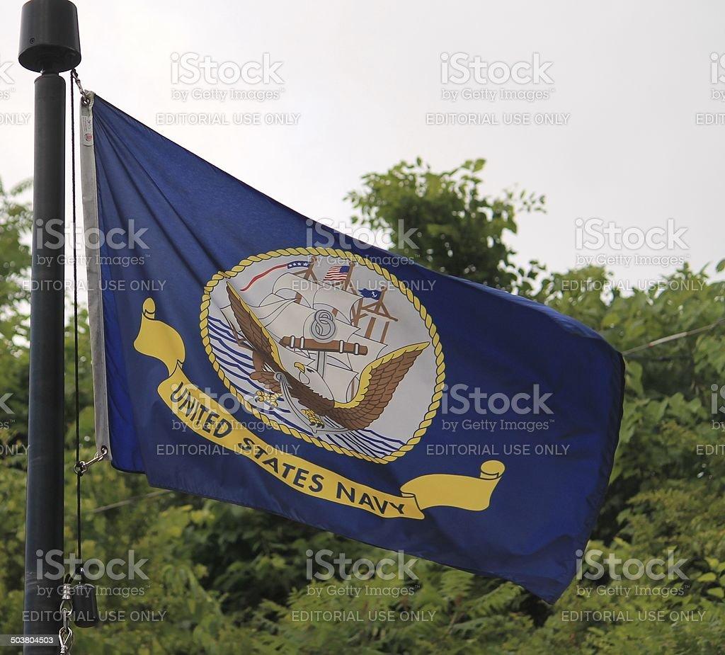 US Navy Flag stock photo