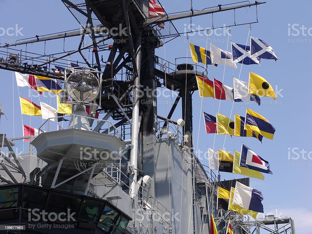 Navy Flags stock photo