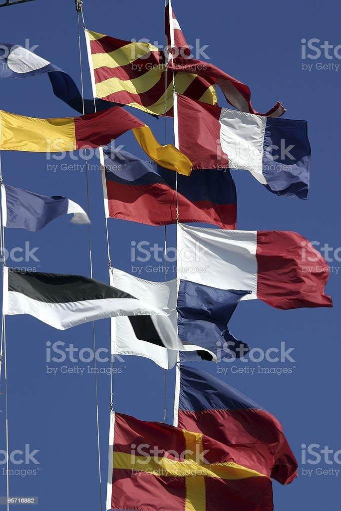 ネイビーの旗 ロイヤリティフリーストックフォト