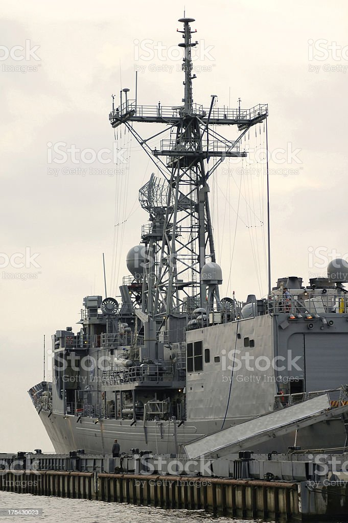 USS Navy frigate royalty-free stock photo