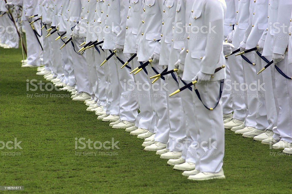 Navy graduation stock photo
