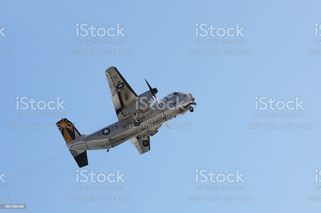 US Navy Grumman C2-A Greyhound Airplane stock photo