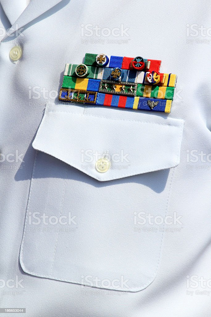 Navy military badges of honour stock photo