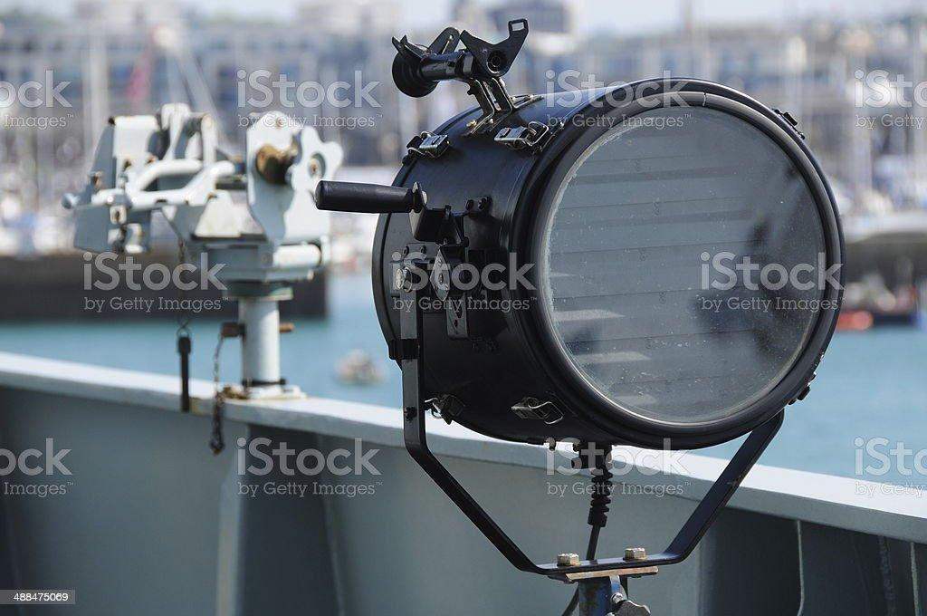 Navy morse code signal light, Jersey, U.K. stock photo