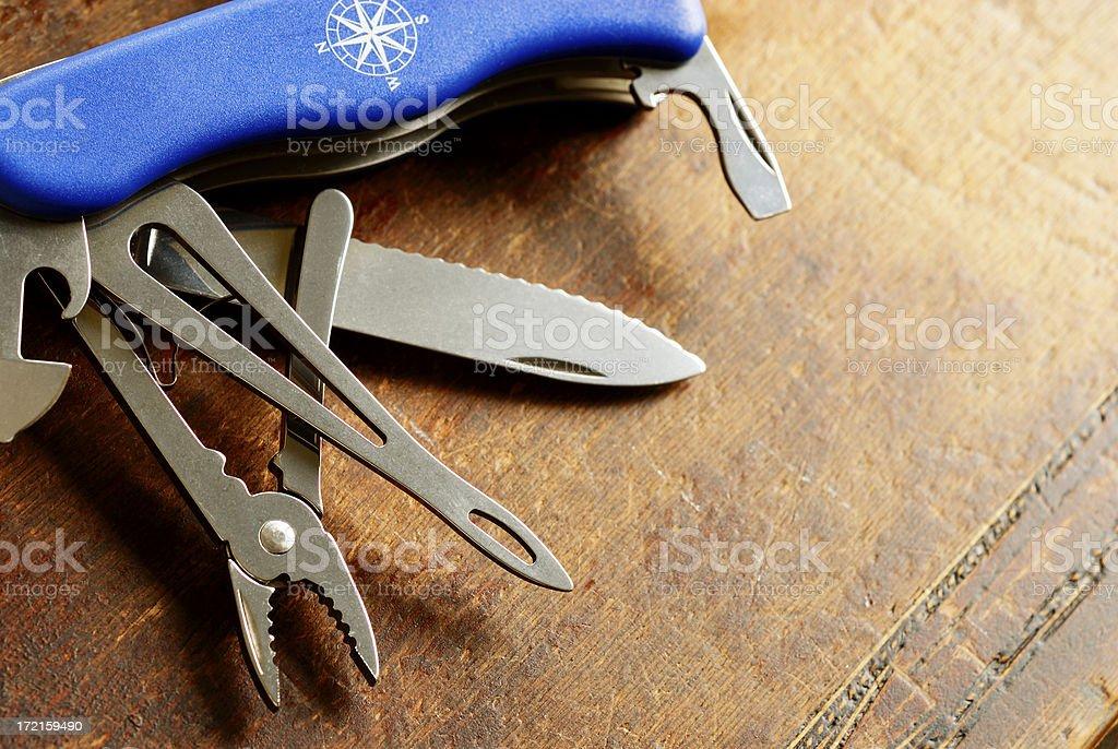 Navy multi tools stock photo