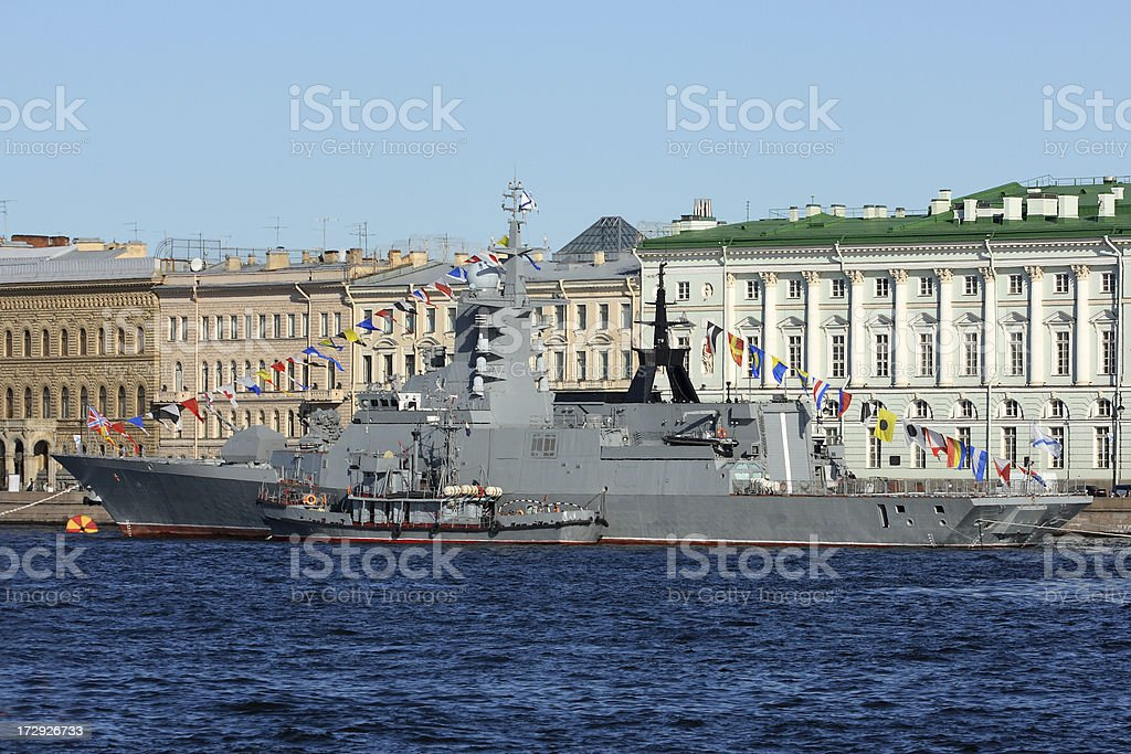 Navy Parade In St. Petersburg, Russia royalty-free stock photo