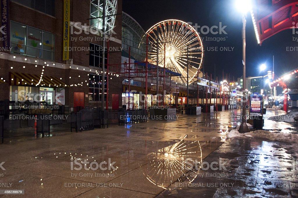 Navy Pier at Night royalty-free stock photo