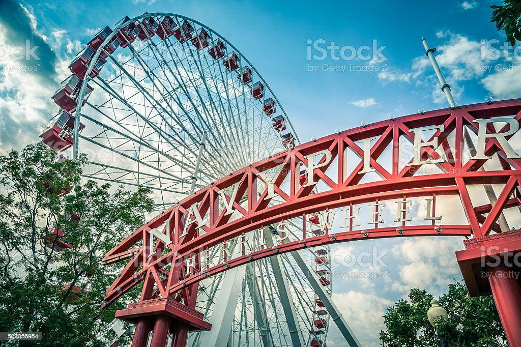 Navy Pier, Chicago, Illinois stock photo