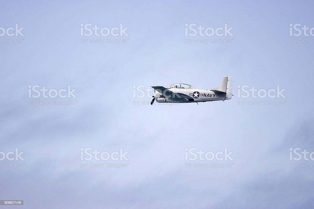 Navy Plane royalty-free stock photo
