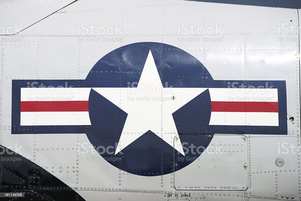 WWII Navy Plane star royalty-free stock photo