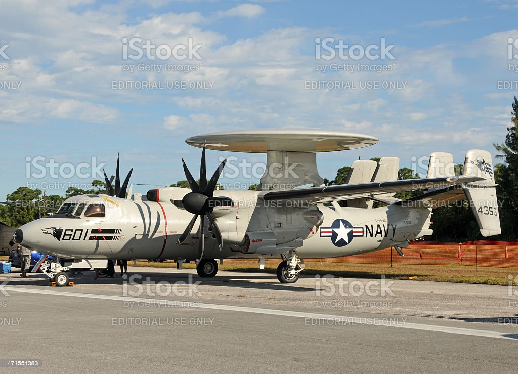 US Navy reconnaissance airplane stock photo