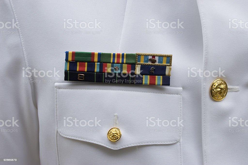 US Navy Ribbons stock photo