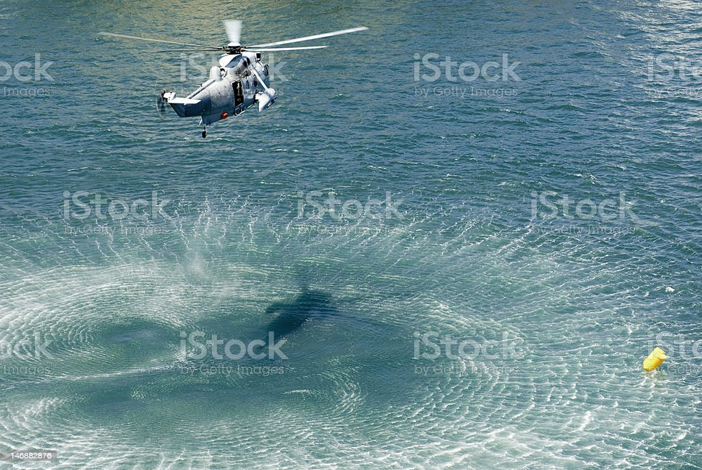 navy sea king helicopter stock photo