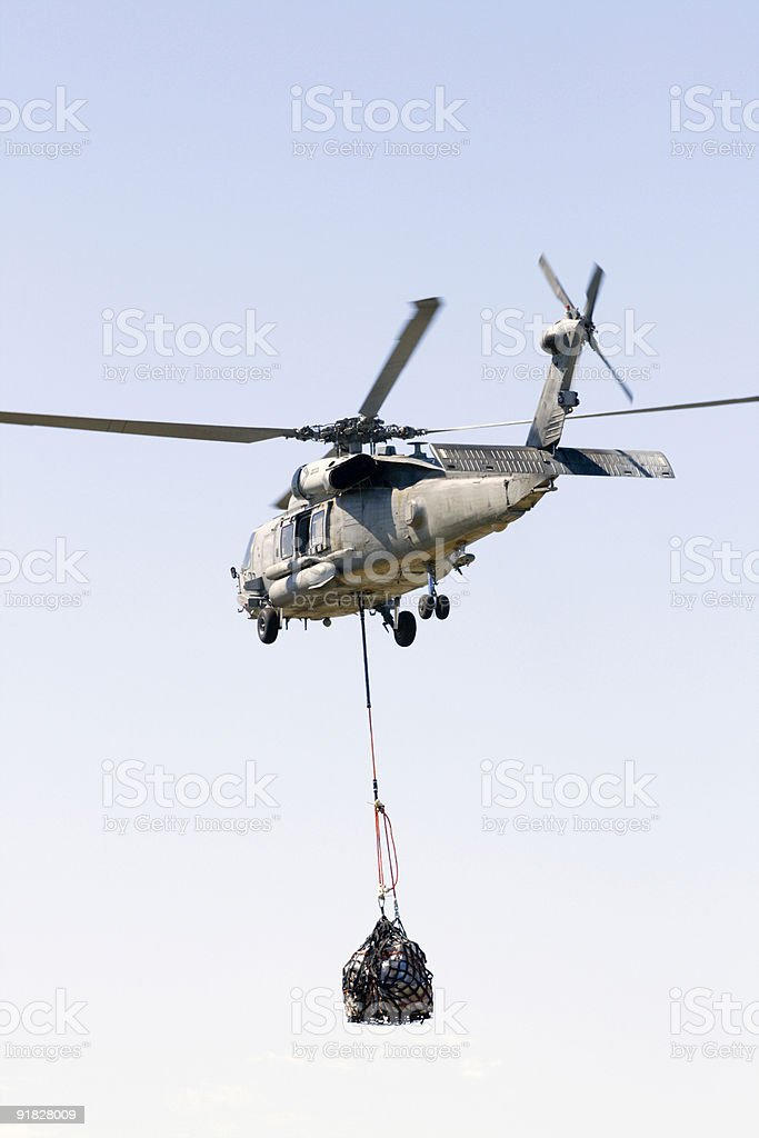 US Navy Seahawk helicopter stock photo