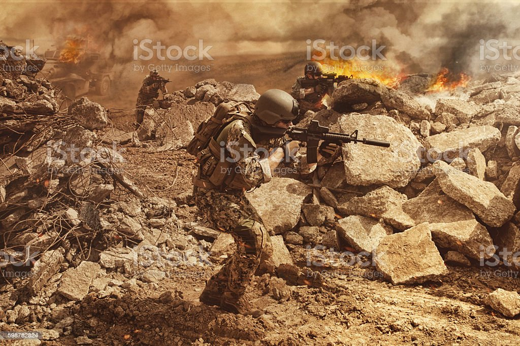 Navy SEAL Team stock photo