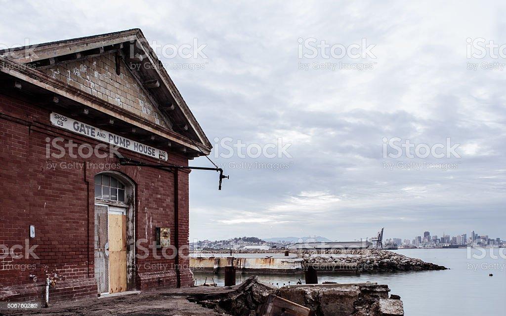 Navy Shipyard Pump House stock photo