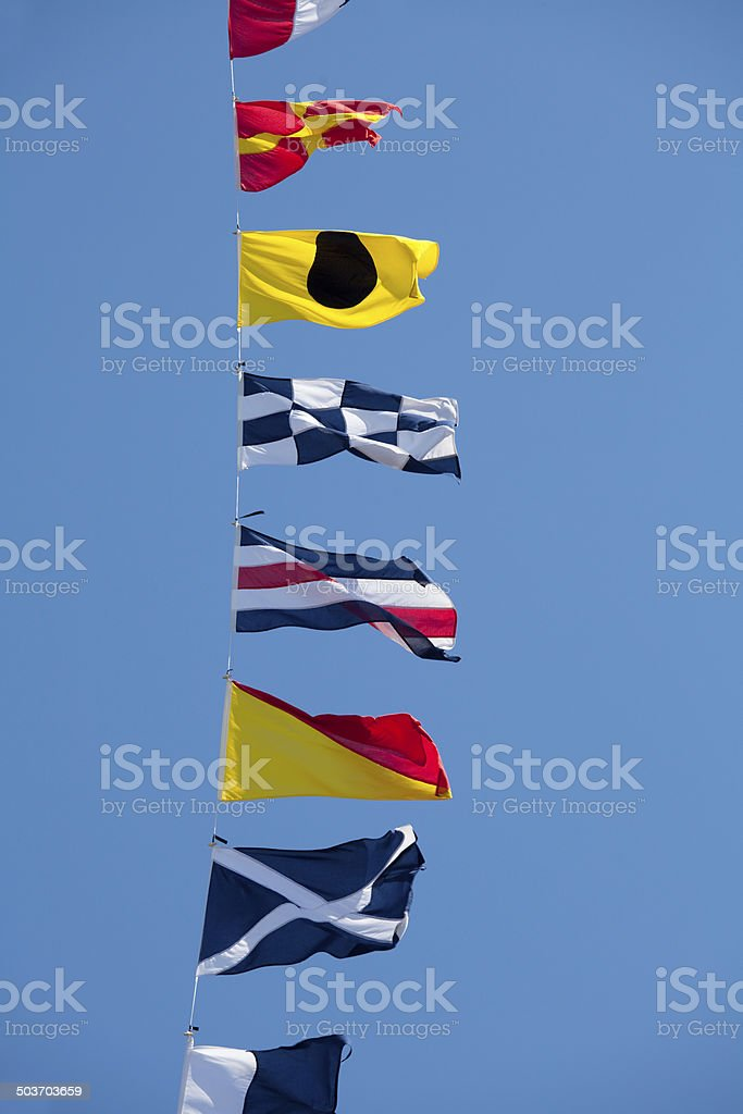 Navy Signal Flags stock photo