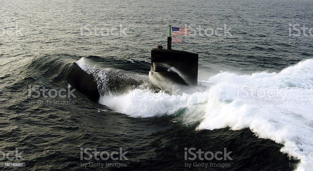 US Navy Submarine stock photo